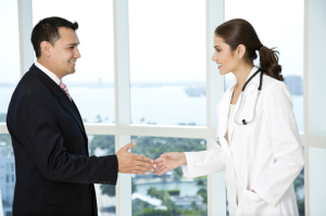 Shaking Hands Job Recruiting Doctor